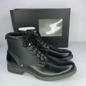 Alfani Bronson Black Faux Leather Boots